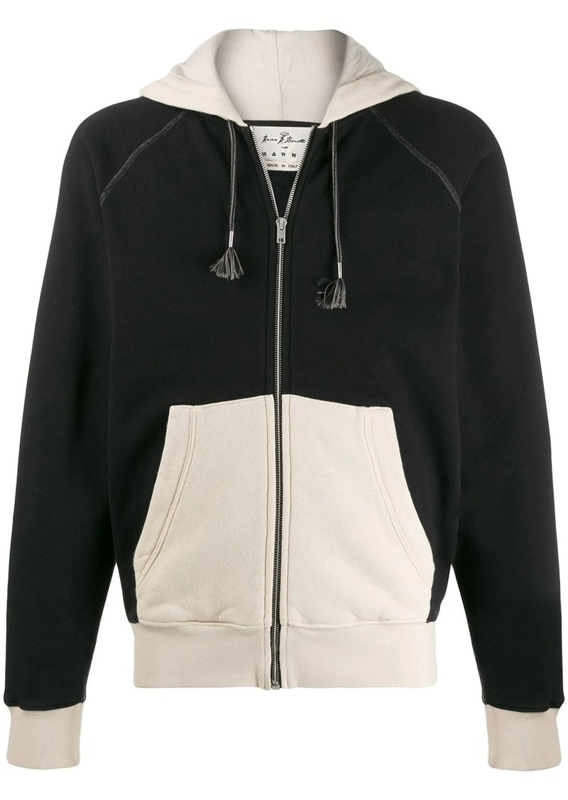 Marni Bruno Bozzetto patch zipped hoodie