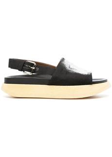 Marni brush-stroke platform sandals