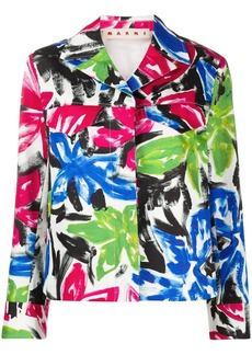 Marni brushstroke floral print jacket