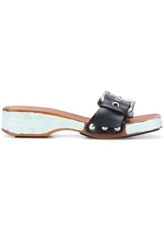 Marni buckled strap wedge sandals