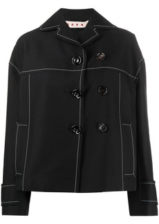 Marni button-detail pea jacket