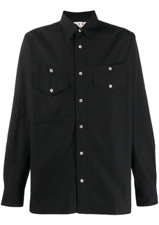 Marni buttoned patch pocket shirt