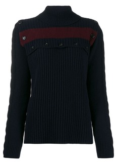 Marni buttoned stripe detail jumper