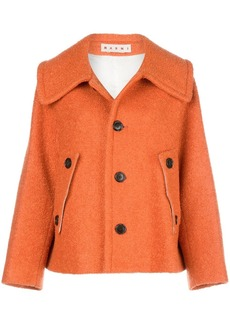 Marni buttoned-up oversized jacket