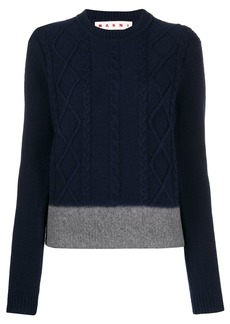 Marni cable knit colour block jumper
