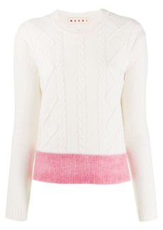 Marni cable knit jumper