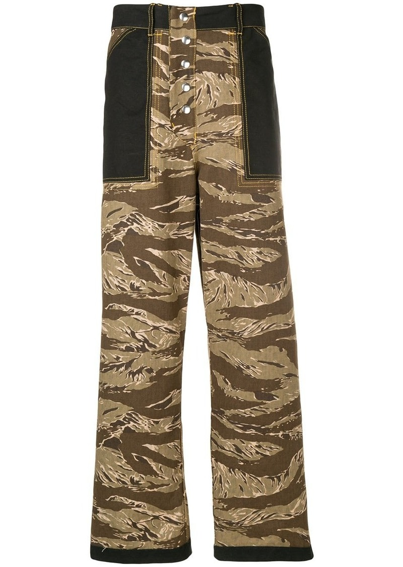 Marni camouflage trousers