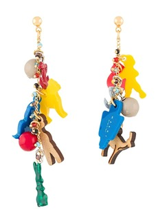 Marni charm drop earrings