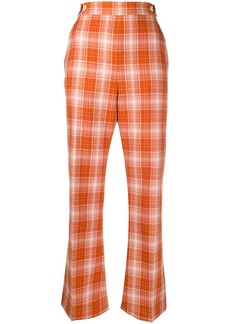 Marni check high-rise cropped trousers