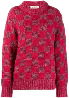 Marni check knit jumper