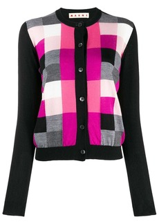 Marni check pattern cardigan