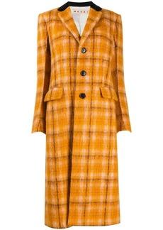 Marni check-pattern single-breasted coat
