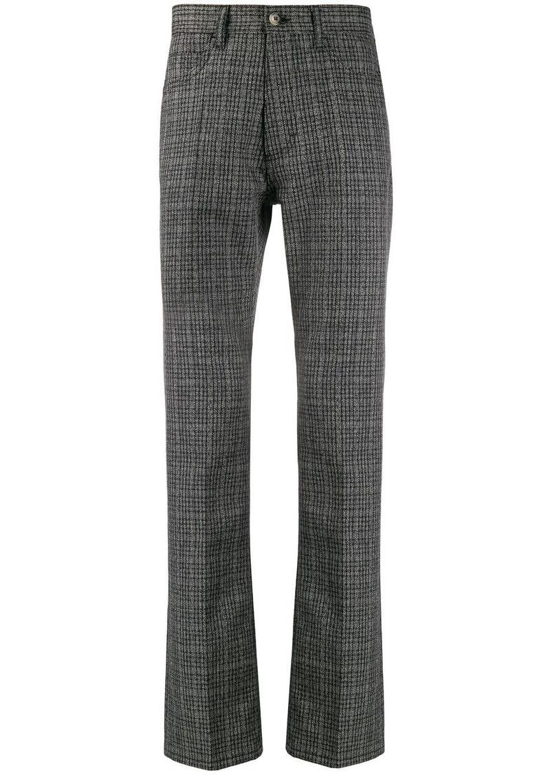 Marni check straight leg trousers