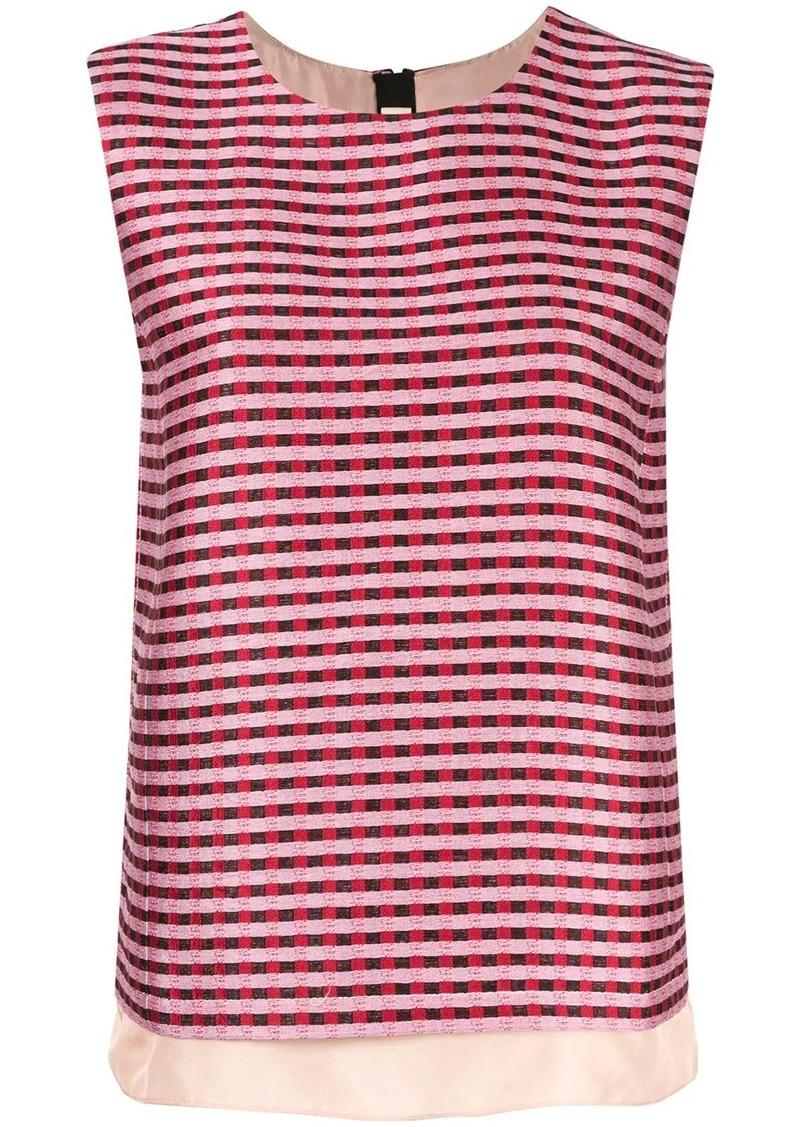 Marni check stripe T-shirt