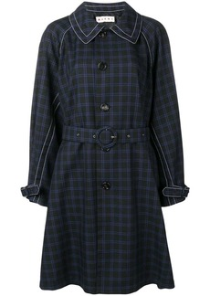 Marni check trench coat