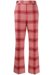 Marni checked bootcut trousers
