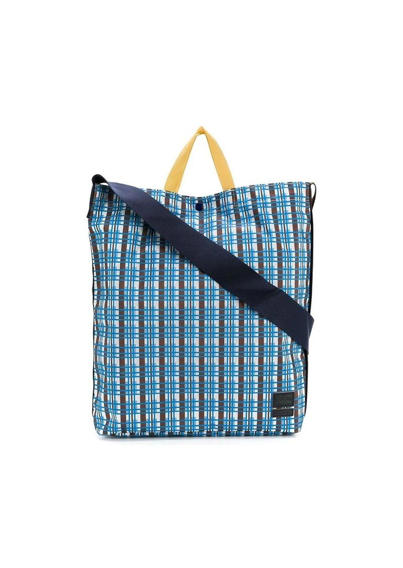 Marni checked design tote bag