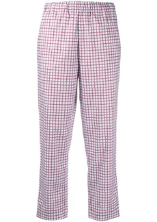 Marni checked high-rise cropped trousers