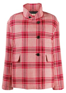 Marni checked single-breasted coat