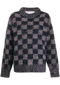 Marni checker print jumper