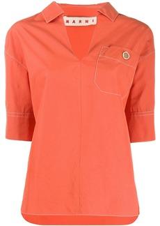 Marni chest pocket blouse