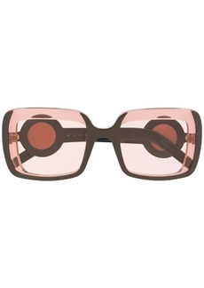 Marni clear square frame sunglasses