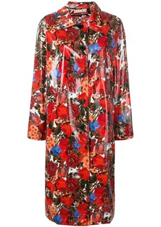 Marni coated floral print coat