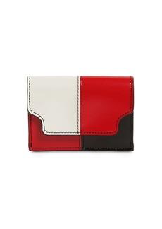 Marni Color Block Saffiano Leather Wallet