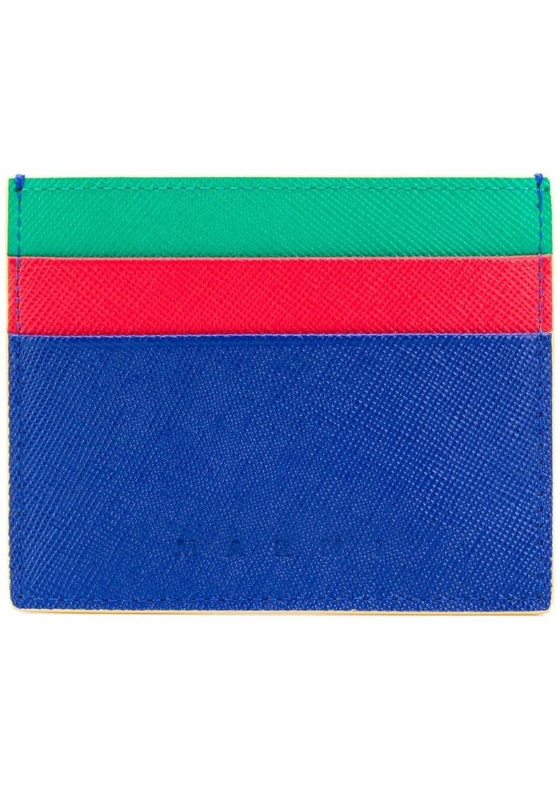 Marni colour block cardholder
