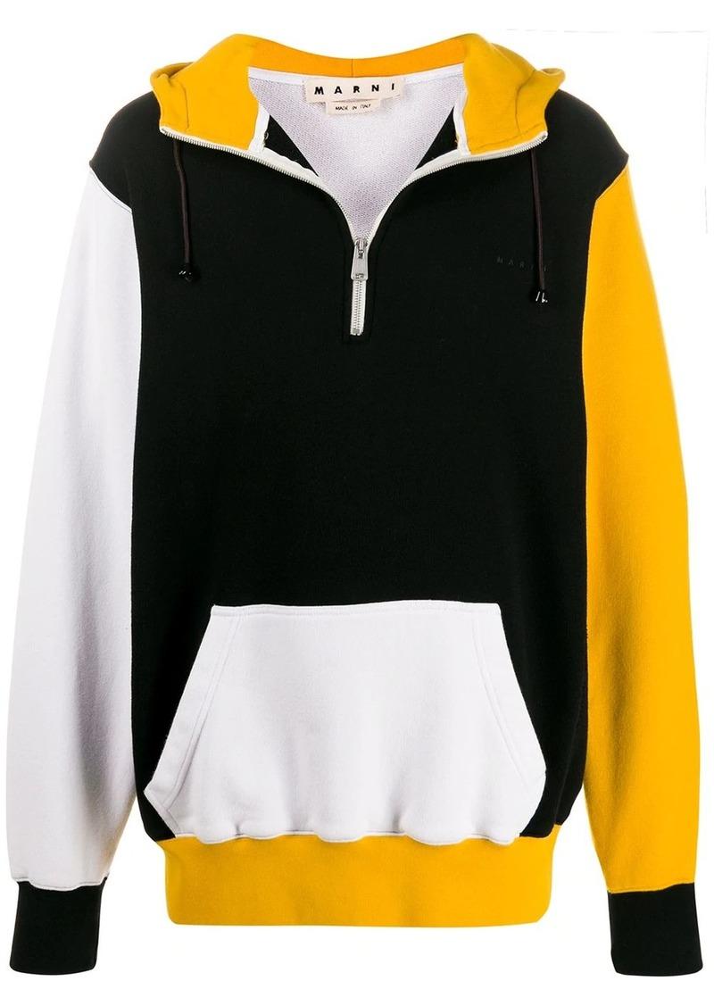 Marni colour-block hoodie