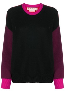 Marni colour-block knitted jumper