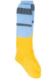 Marni colour-block knitted socks