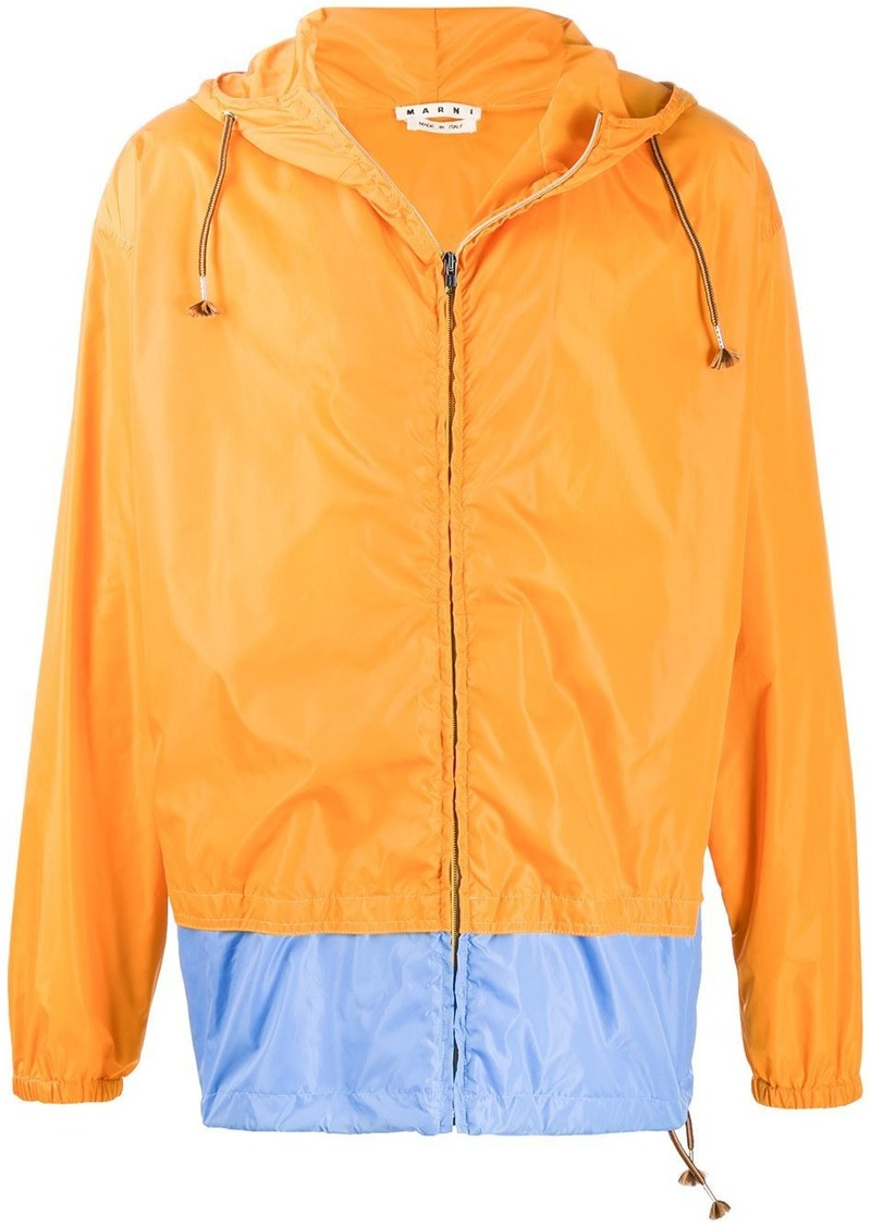 Marni colour block lightweight jacket