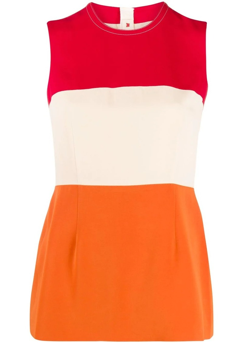 Marni colour block sleeveless blouse