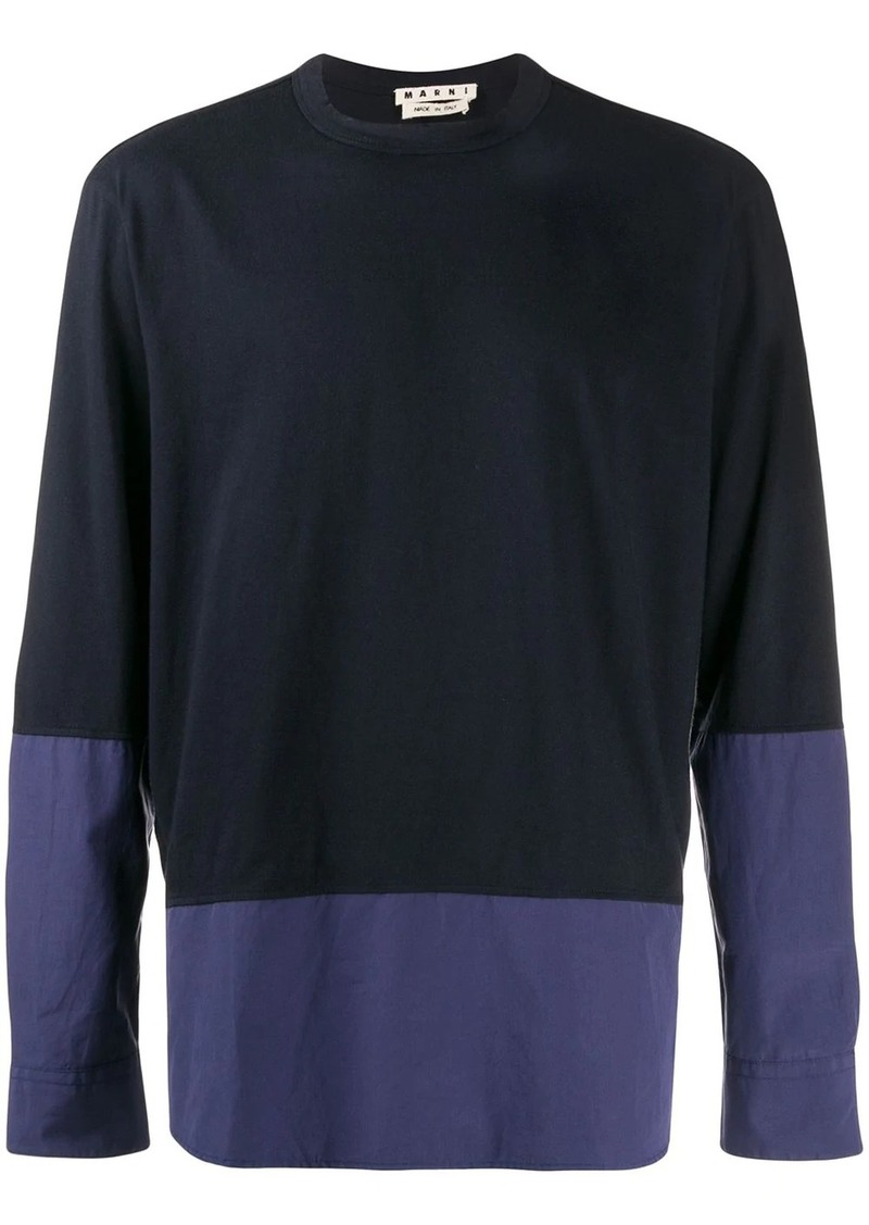 Marni colour-block sweatshirt