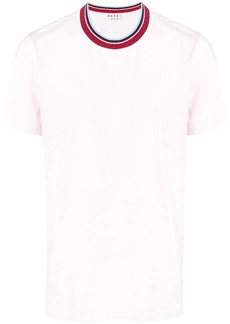 Marni coloured stripe collar T-shirt