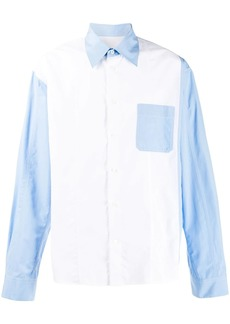 Marni contrast panel shirt