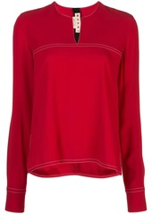 Marni contrast stitch blouse