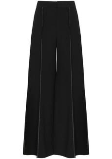Marni contrast-stitch flared trousers