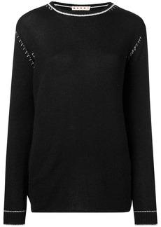 Marni contrast stitch jumper