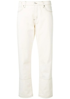 Marni contrast stitched panel jeans