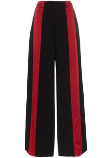 Marni contrast stripe flared trousers
