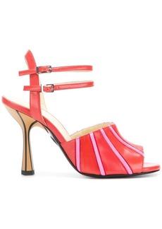 Marni contrast striped sandals