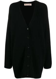 Marni contrast trim oversized cardigan