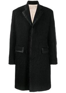 Marni contrast trim single breasted coat