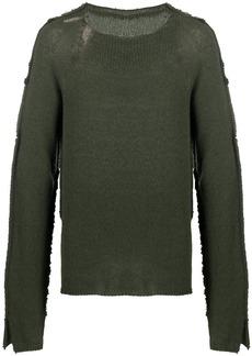Marni contrasting-panel raw-edge jumper