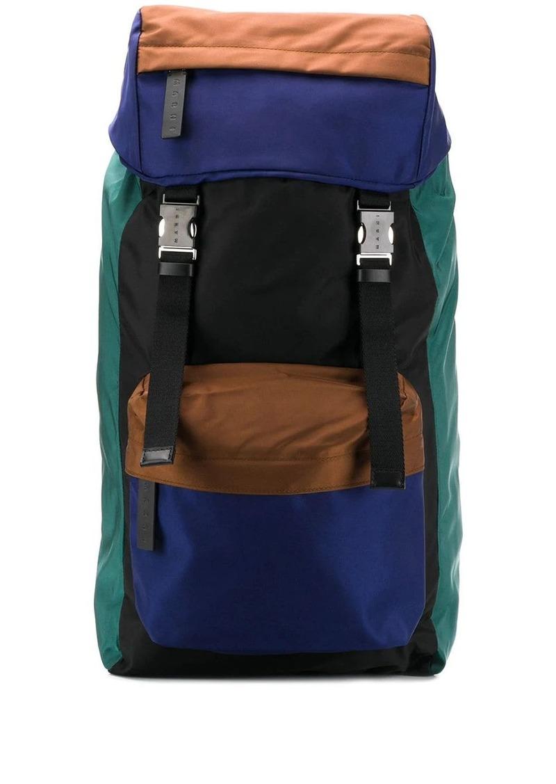 Marni contrasting paneled large backpack