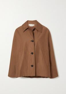 Marni Cotton And Linen-blend Jacket