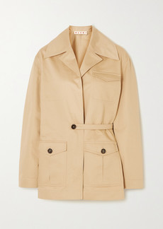 Marni Cotton And Linen-blend Twill Jacket