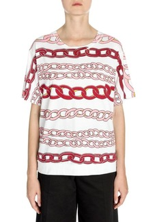 Marni Cotton Chain Link Print Tee